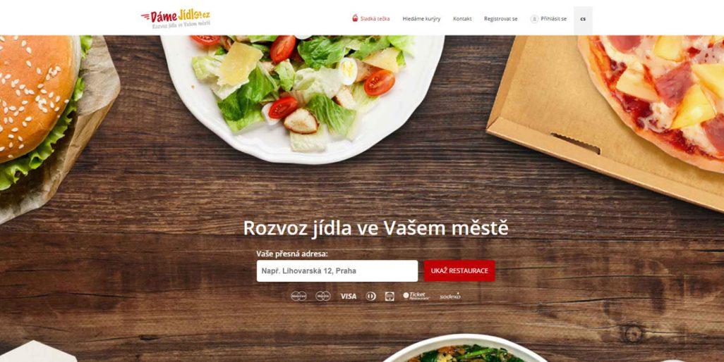 Ukázka úvodní stránky DameJidlo.cz