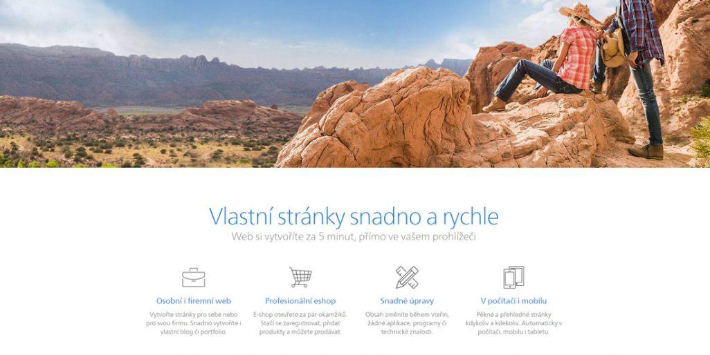 Homepage stránek Webnode