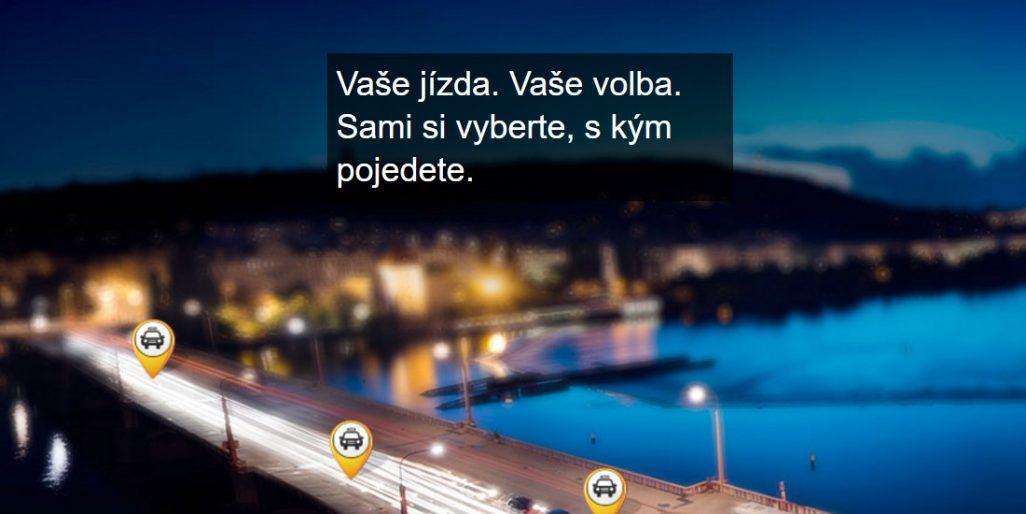 Slogan Liftaga: Vaše jízda. Vaše volba. Sami si vyberte, s kým pojedete.