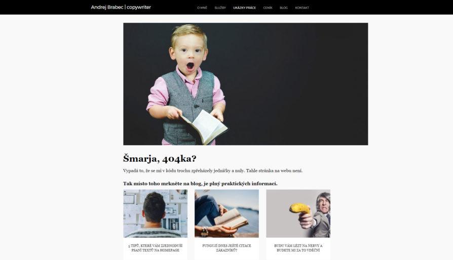 Chyba 404 může návštěvníky také nasměřovat na další části webu.